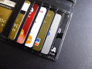 kredietkaarten in een portefeuille