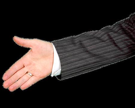 hand schudden afspraak lening