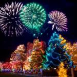 Kerstmis vuurwerk
